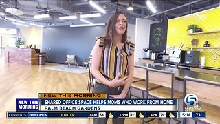 Shared office space helping moms who work from home