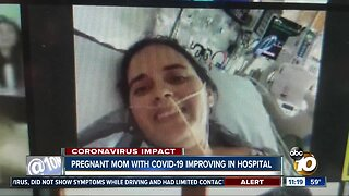 Pregnant mom with COVID-19 improving in hospital