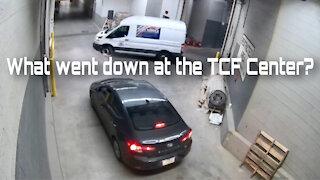 Exclusive: Suspicious Vehicle Seen Escorting Late Night Biden Ballot Van at TCF Center