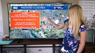 Weekend traffic restrictions, closures around the Valley