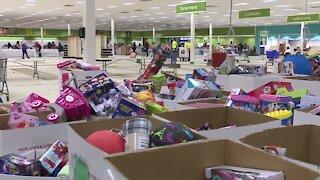 Salvation Army starts their Christmas distribution
