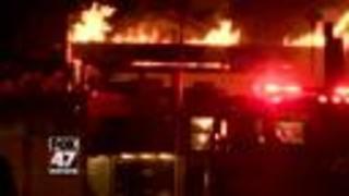 Massive fire breaks out at Michigan sawmill