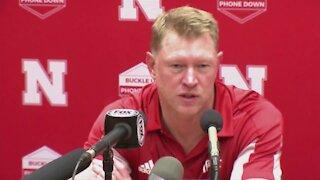 Nebraska football coach Scott Frost speaks after loss at Oklahoma