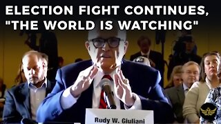 """Election fight continues. Trump declares, """"The World Is Watching"""""""