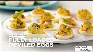 How to Make Fully Loaded Deviled Eggs Appetizer Recipes