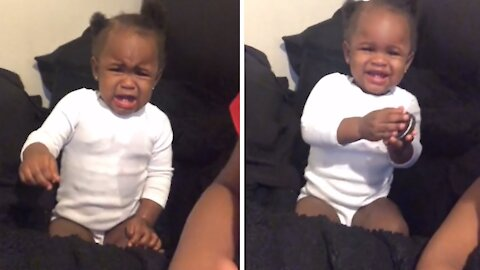 """Baby """"miraculously"""" stops crying after getting a cookie"""