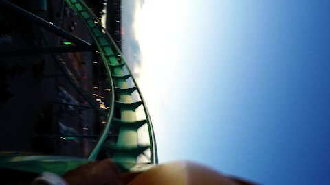 Thrilling ride on 'Leviathan', Canada's tallest roller coaster