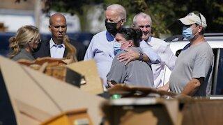President Biden Surveys NY And NJ Storm Damage, Talks Climate Change