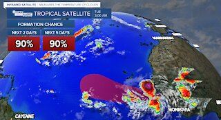 Ida downgrades, Kate forms, another tropical depression likely to form