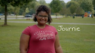 Meet 13-year-old Journie, who loves to read and loves to help people