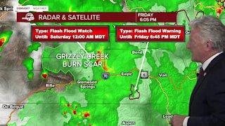 Friday 6 p.m. flash flooding forecast