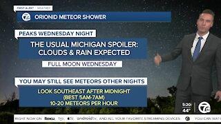 Orionid Meteor Shower peaks Wednesday night