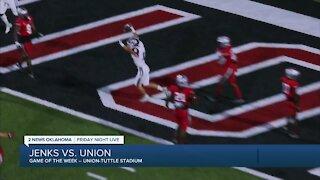 Jenks beats Union 22-0
