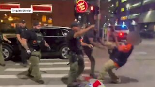 Several Detroit police officers under investigation after Greektown punch as new video emerges