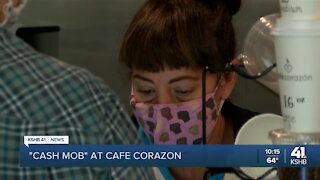 'Cash Mob' at Cafe Corazon