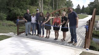 A new trail opens near Sharp Park Academy and Middle School at Parkside
