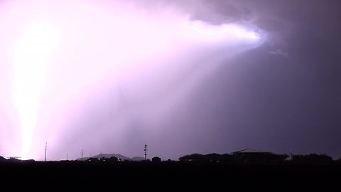 Incredible cloud-to-ground lightning storm