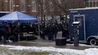 Michigan State Police prepare for planned armed protests at the state capitol
