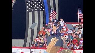 Trump feeling great post rona! Macon, Ga Rally!
