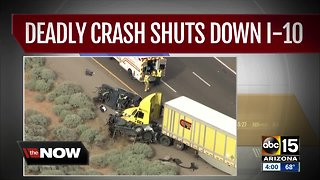 Four people killed, four more injured in I-10 crash south of Eloy