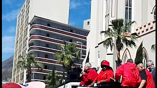 Zuma must go, state capture is a crime against humanity: Cosatu workers in the WCape (98G)