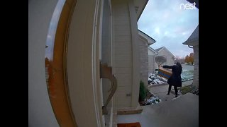 Woman wanted for stealing package off porch in Sterling Heights neighborhood