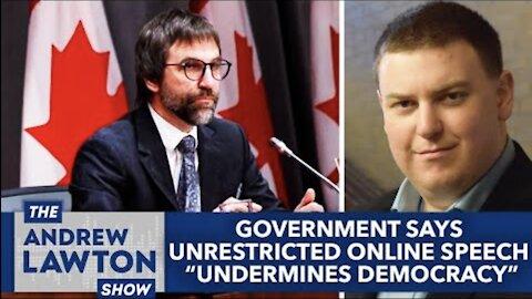 "Government says unrestricted online speech ""undermines democracy"""