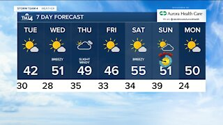 Clouds stick around with lows in 30s Monday evening