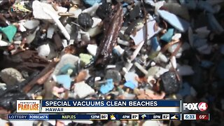 Special vacuums clean beaches in Hawaii