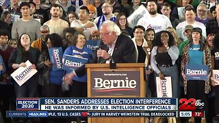 Sanders addresses election interference
