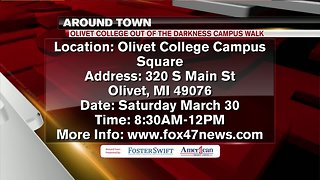 Around Town 3/26/19: Olivet College Out of the Darkness Campus Walk