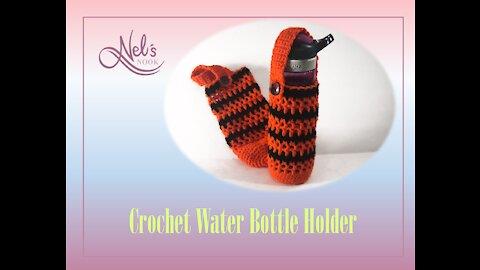 Easy Crochet Water Bottle Holder