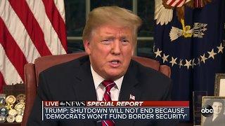 President Trump addresses nation, democrats respond