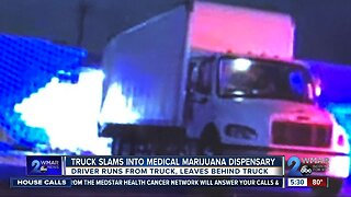 Truck slams into Hampden Medical Marijuana dispensary