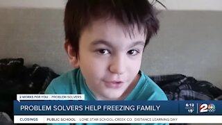Problem Solvers help freezing family