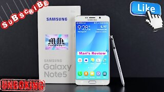 SAMSUNG GALAXY NOTE 5 UNBOXING AND REVIEW