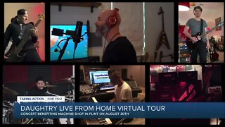 Chris Daughtry live from home virtual tour