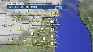 Mix of clouds and sunshine Monday afternoon