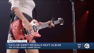 Taylor Swift's next album is a re-release of 'Red,' as WXYZ anchors tell Brad Galli to 'listen up!'