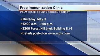 Palm Beach County School District holding free immunization clinic Thursday