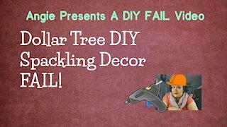 DIY Dollar Tree Spackling Decor Fail