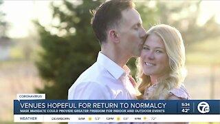 Wedding venues hopeful for a normal return after mask changes