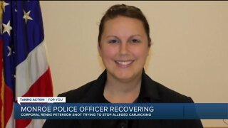 Monroe Police Corporal Renae Peterson recovering after being shot