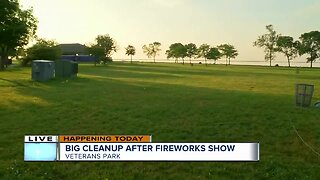 Cleanup underway at Milwaukee's Veterans Park after July 3 fireworks show