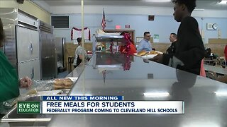 Cleveland Hill School District will have free school breakfast and lunch for all students