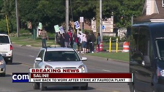 UAW back to work after strike at Faurecia plant in Saline