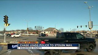Chase leads police to stolen mail in Waukesha County