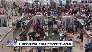 Government shutdown raising concerns at Detroit Metro Airport