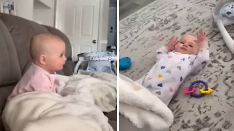 Hilarious compilation of adorable baby's epic dance moves