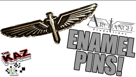 Archangel Productions Logo Enamel Pins